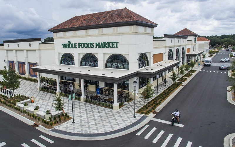 Whole Foods exterior in nearby shopping center
